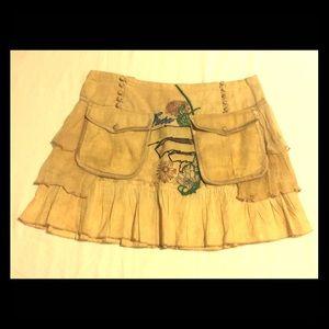 Unique boho mini skirt